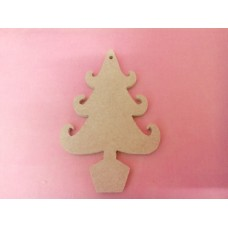 4mm Thick MDF Christmas tree starts at 50mm in size